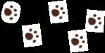 犬の足跡のアイコン