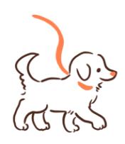 お散歩する犬のアイコン